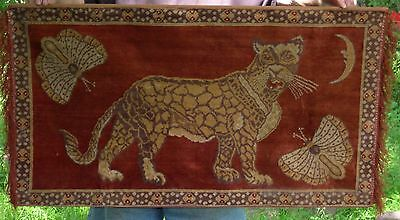 Beautiful Vintage Antique Leopard Half Moon Butterfly Tapestry