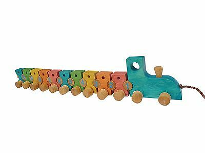 Wooden Preschool Toys - Lacing Train - 100 % Brand new - Safe Materials