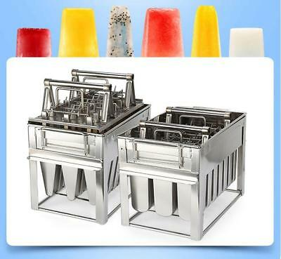 3x8=24pcs Stainless Steel Popsicle Mold Ice Lolly Maker Ice Cream Sticks Holder