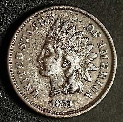 1873 INDIAN HEAD CENT - With LIBERTY & DIAMONDS - XF EF *OPEN 3*
