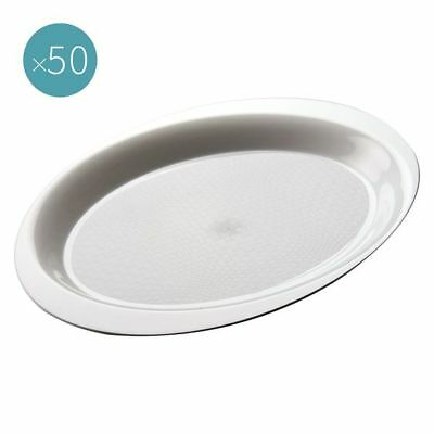 NEW Gold Plast Cocktail Plastic Plate (Set of 50) in Black, Grey, White