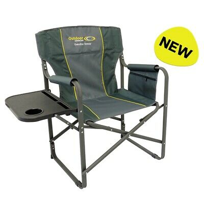 XL wide BBQ camp chair seat 6 Position Adjustable folds flat camping fishing CC9