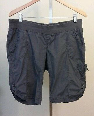 Oh Baby by Motherhood Dark Gray Lightweight Maternity Cargo Shorts Size XL