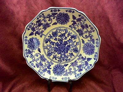 Vintage Chinese Porcelain Plate Marked Qing Qianlong