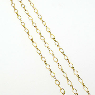 5 feet 1mm 14k yellow Gold Filled rolo rollo loose chain by foot Gch42