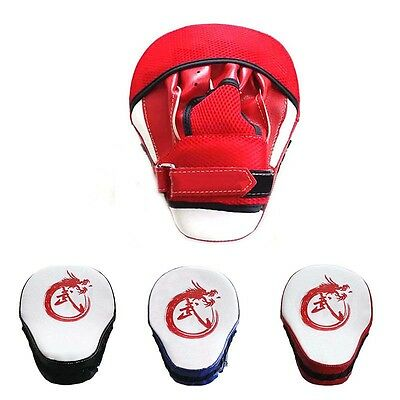 PU Leather Focus Pads Martial Arts Boxing Mitts Punch Pad Training Solid Gloves