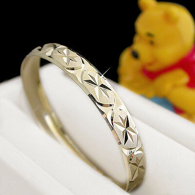 KIDS | BABY 6mm 14k GOLD EP Solid BANGLE ~SZ 2 | 9-24 MONTHS  LIFETIME GUARANTEE