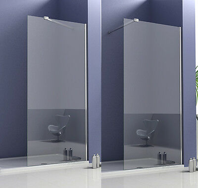 2000mm Wet Room Shower Screen Enclosure and Tray Panel 8mm NANO Glass Cubicle