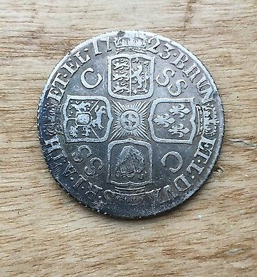 1723 Shilling - George I British Silver Coin - Nice