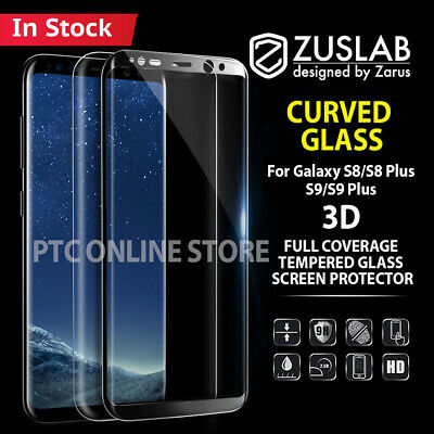 Galaxy S9 S8 Plus Genuine ZUSLAB 3D Tempered Glass Full Cover Screen Protector