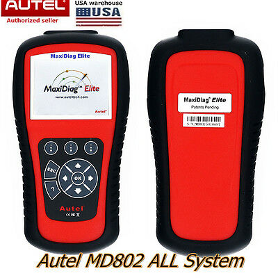 Autel MD802 All System DS Model OBD2 Diagnostic Tool EPB SRS Transmission Oil US