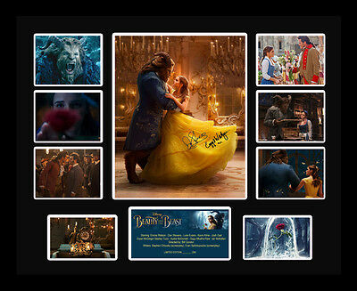 Beauty and the Beast Emma Watson Dan Stevens Signed Limited Edition Memorabilia