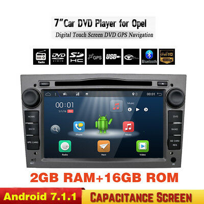 Android6.0 Car Radio 2 Din BT Car DVD GPS Navigation Touch For OPEL Gray Color