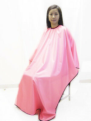 Pink Salon Style Velcro Fastening Hairdressing Cape Gown