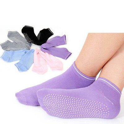 Pair Ladies Women Sports Cotton Soft Sock Rich Pilates Yoga Non-Slip Grip Socks