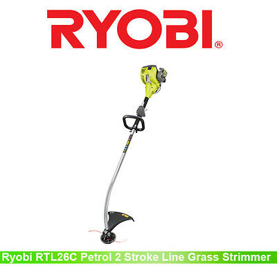 Ryobi RLT26C Petrol 2-Stroke 26cc 0.9hp POWRLT2 Bent Shaft Line Trimmer Strimmer
