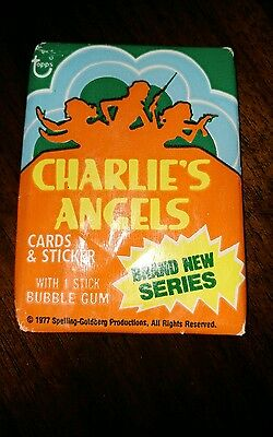 Unopened Charlie's Angels 1977 Topps Wax Packs Vintage TV Trading Cards