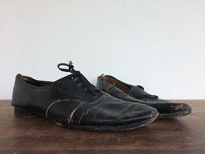 Victorian Vtg Antique Leather French Shoes Brogues Brogue Oxford Chore
