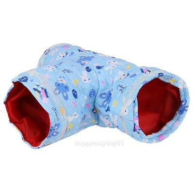 3 Ways Bed House Playing Small Animal Tunnel Rabbit Ferret Hamster Hedgehog Toy