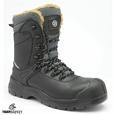 Zephyr Z026 S3 SRC Black Composite Toe Cap Cold Work Thermal Winter Safety Boots