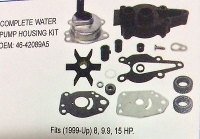 Mercury Mariner Full Water Pump Repair Housing Kit 6HP 8HP 9.9HP 15HP 46-42089A5