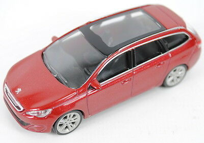 "Peugeot 308SW Estate Model Car 3"" New Genuine Red 13MITR904"