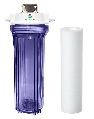 """AquaHouse AH-UVPRE Small UV lamp Sediment Pre filter System for 1/4"""" tubing 12W"""