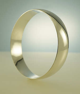 Bangle Sterling Silver Wide Half Round Jewellery