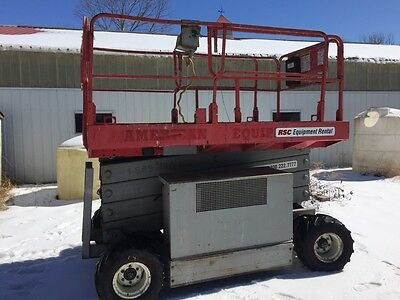 mec 30 ft scissor lift 4x4 dual fuel
