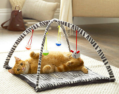 Cat Pop Up Play Mat Pet Toy Feline Kitten Claw Care Scratching Activity Centre