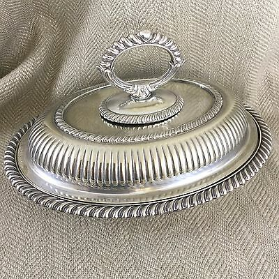 Antique Tureen Entree Dish Serving Bowl Covered Silver Plated Mappin & Webb