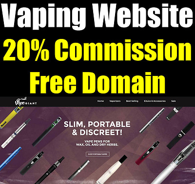 Vape Website - Accessories - Fully Built - Home Online Adult Business - For Sale