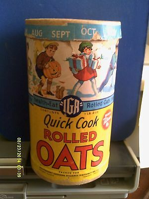 IGA Quick Cook Rolled Oats Cereal Container