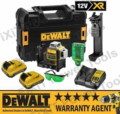 DeWalt DCE089D1G + 2 x 2.0Ah 10.8v Li-Ion Self Level Multi Line Laser Green NEW