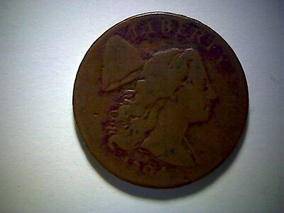 1794 United States Large Cent Coin, Liberty Cap Head Of 1794 Type, Old Cent Coin