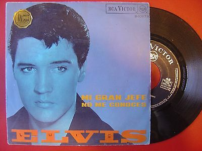 ELVIS PRESLEY mi gran jefe / no me conoces ONLY SPANISH p/s 45 RCA 1968