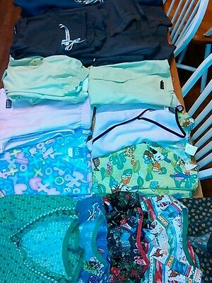 HUGE LOT OF SCRUBS 17  WOMEN'S SMALL & XS some SETS some Name BrandsTOPS BOTTOMS
