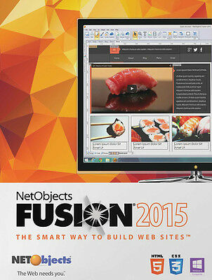 NetObjects Inc. Fusion 2015 - for PC - website building - with HTML 5 & CSS 3