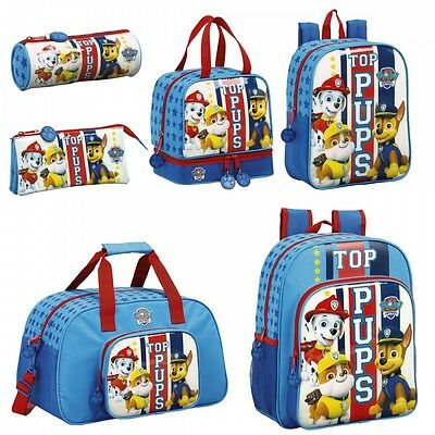 Paw Patrol Girls Boys Blue Backpack Rucksack School Holiday Lunch Sports Gym Bag