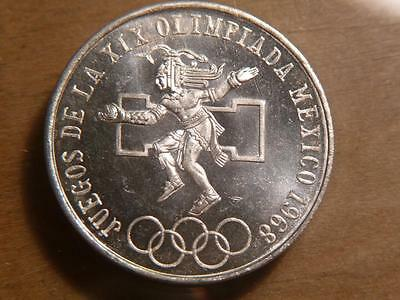 Mexico 1968 Olympic 25 peso Silver, Uncirculated Condition....SKU#10842
