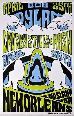 Bob Dylan and Crosby Stills and Nash 2003 New Orleans Concert POSTER