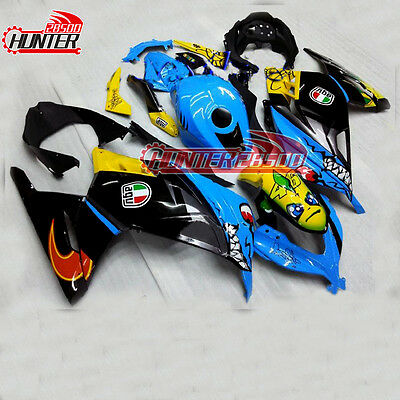 Fairing Panel Kit for Kawasaki Ninja 300 EX300 2013 2014 2015 2016 Blue Shark