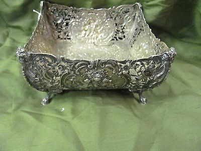 Antique Silver 800 German Fruit Vase