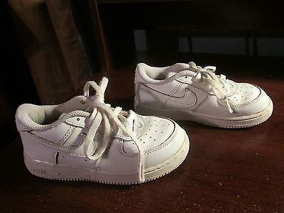 Nike Air force one all white kids shoes size 10c