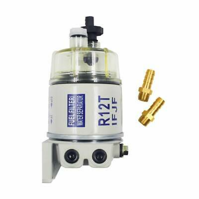 New With fittings Marine Spin-on Fuel Filter Water Separator  R12T For RACOR