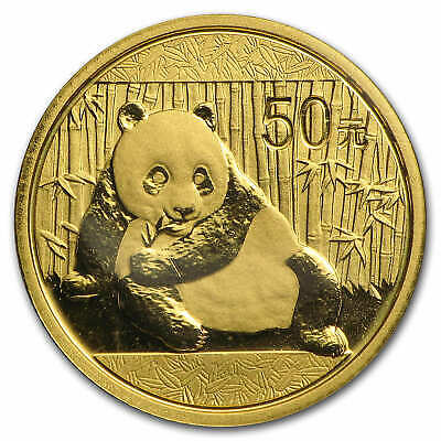 China 1/10 oz Gold Panda BU (Random Year, Sealed in Plastic) - SKU #26849