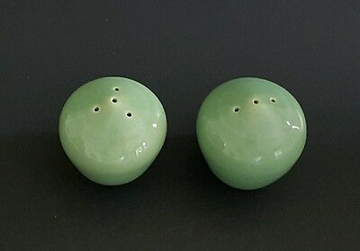 Bauer La Linda Green Salt and Pepper Set Vintage