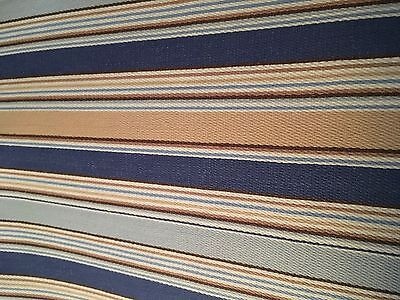 Longaberger~ Cabana Blue Stripe Fabric Liner for S/&S TV TIME Basket NIP