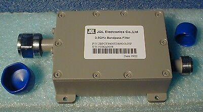 microwave bandpass filter,  3.400 GHz--3.494 GHz, new with spec sheet, boxed