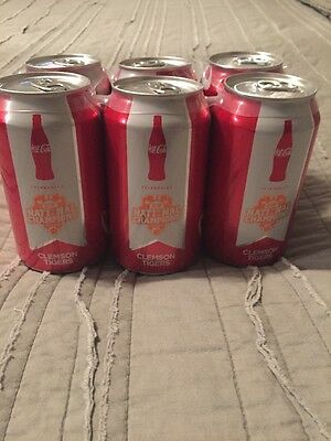 CLEMSON TIGERS 6 PACK COCA COLA Coke CAN CFB Champs 2016